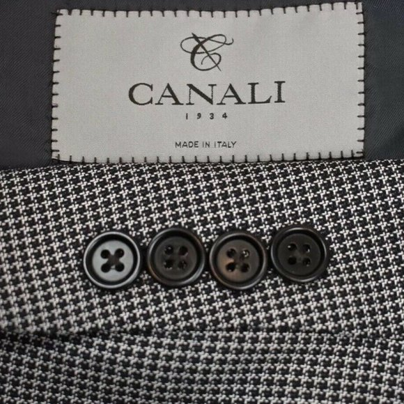 Canali Other - 46R Canali 1934 Current SILK Blend Gray BLAZER